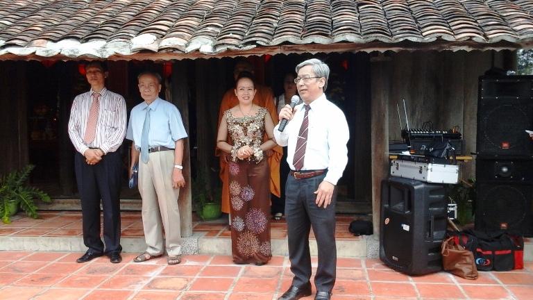 Ông Lê Xuân Thân phát biểu tại lễ hội